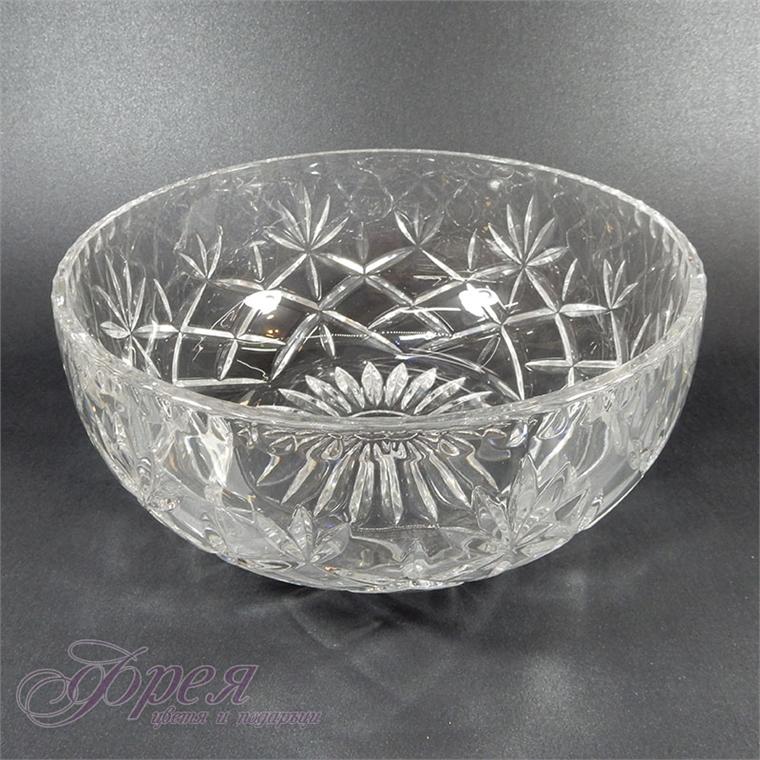 Кристална купа с релефна форма - кръгла
