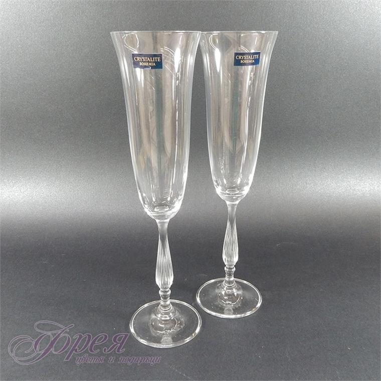 Кристални чаши за шампанско Бохемия - 2бр.