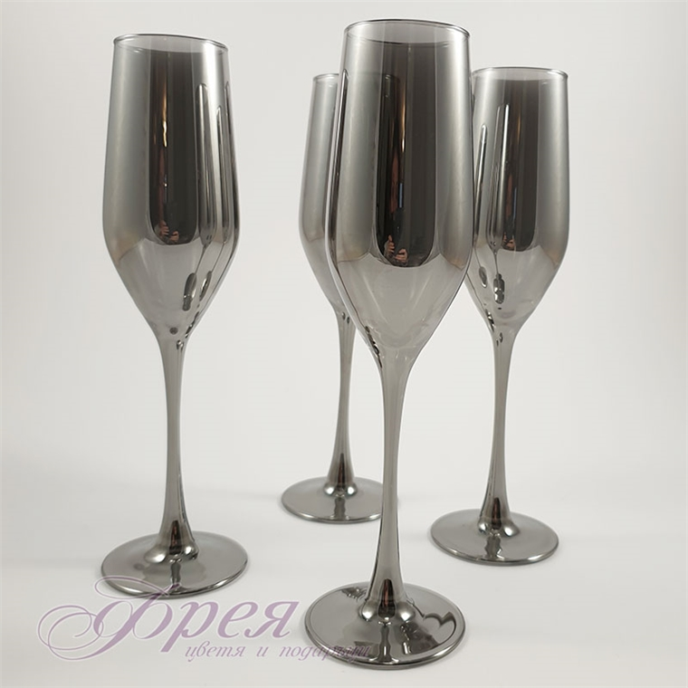 Чаши за шампанско Luminarc silver