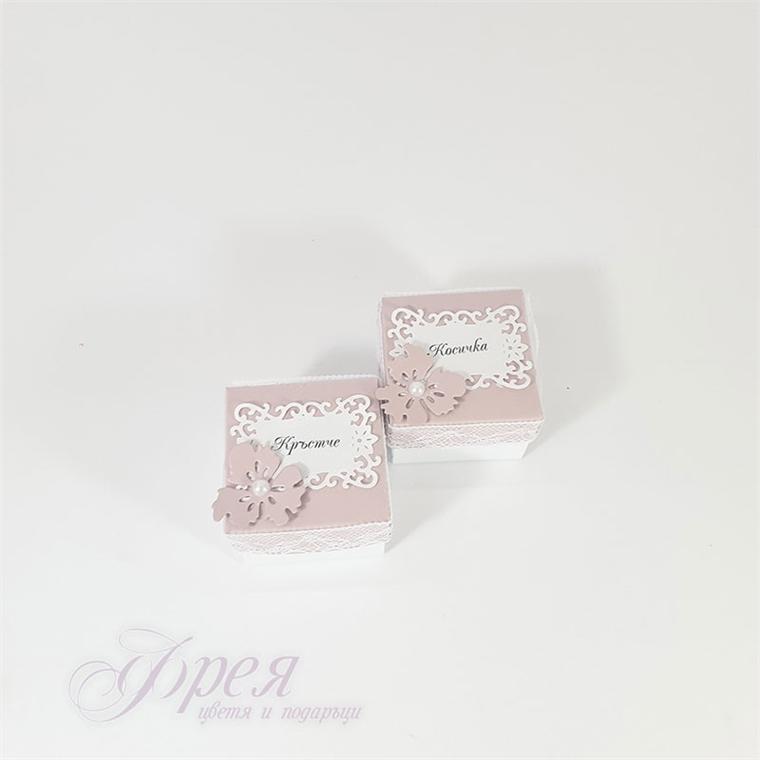Кутийки за косичка и кръстче - пепел от рози