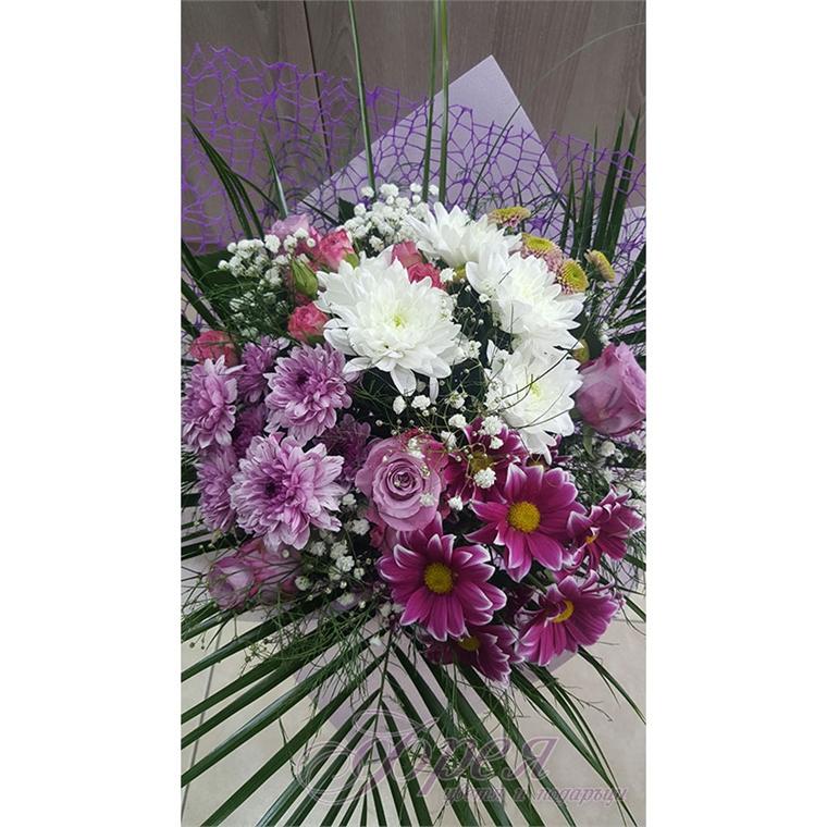 Букет - Хризантеми и рози