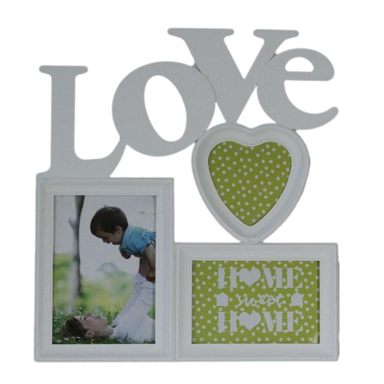 Рамка за три снимки Любов 38см