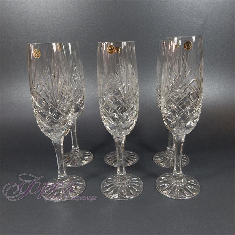 Кристални чаши за шампанско серия ''Маргарита''