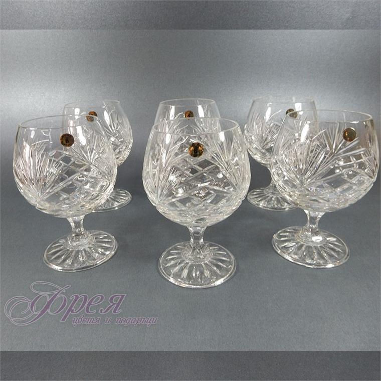 Кристални чаши за коняк/бренди серия ''Маргарита''
