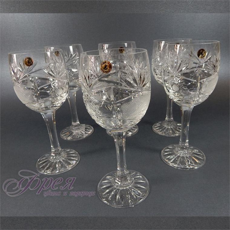Кристални чаши за червено вино серия ''Поморие''