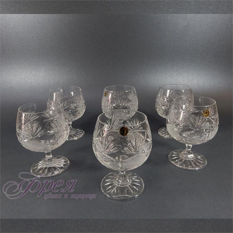 Кристални чаши коняк серия ''Поморие''