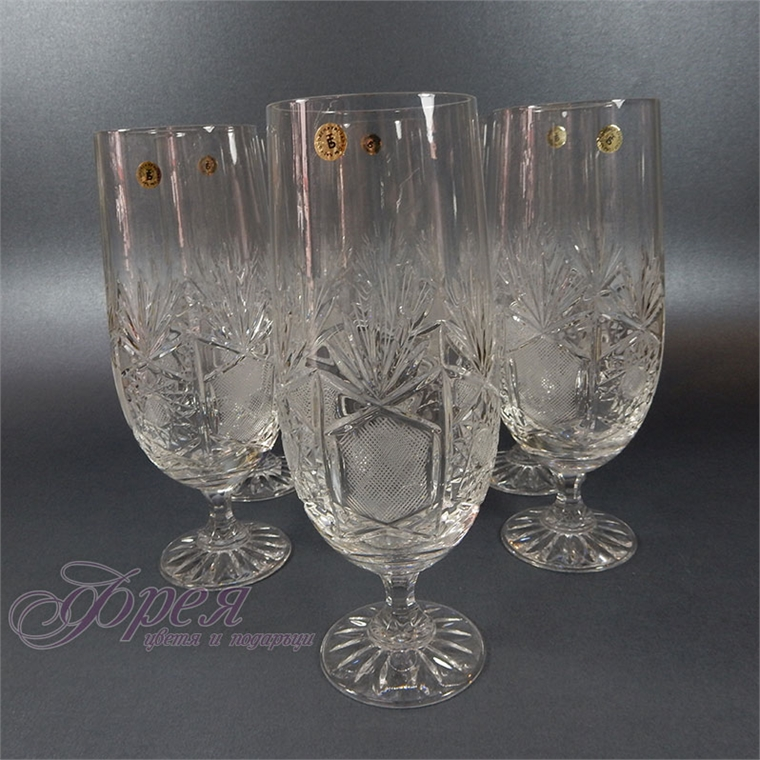 Кристални чаши за бира серия ''Поморие''