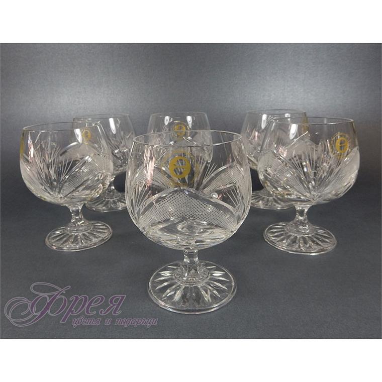 Кристални чаши за коняк серия ''Рамона''