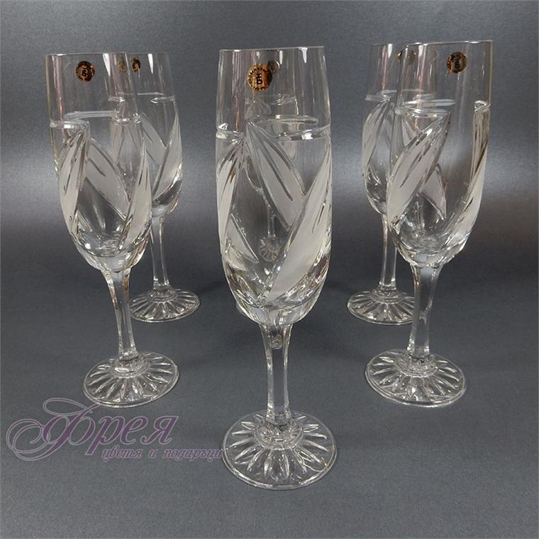 Кристални чаши за шампанско серия ''Виланов''
