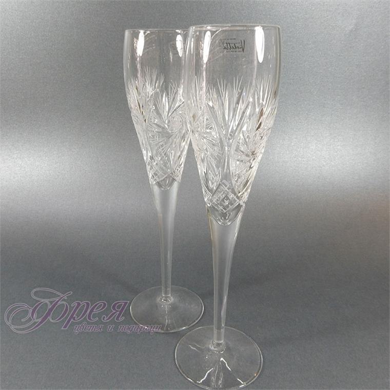 Кристални чаши за шампанско серия ''Моника''