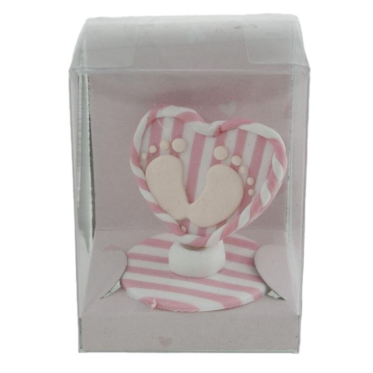 Декорация Сърчице - Крачета, розово