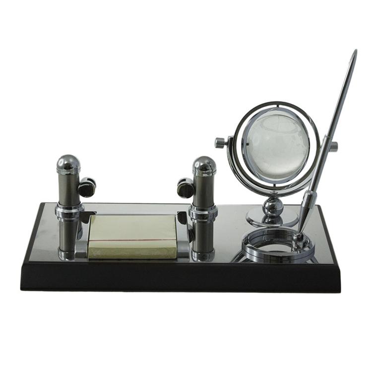 Комплект за бюро - Стъклен глобус 27см