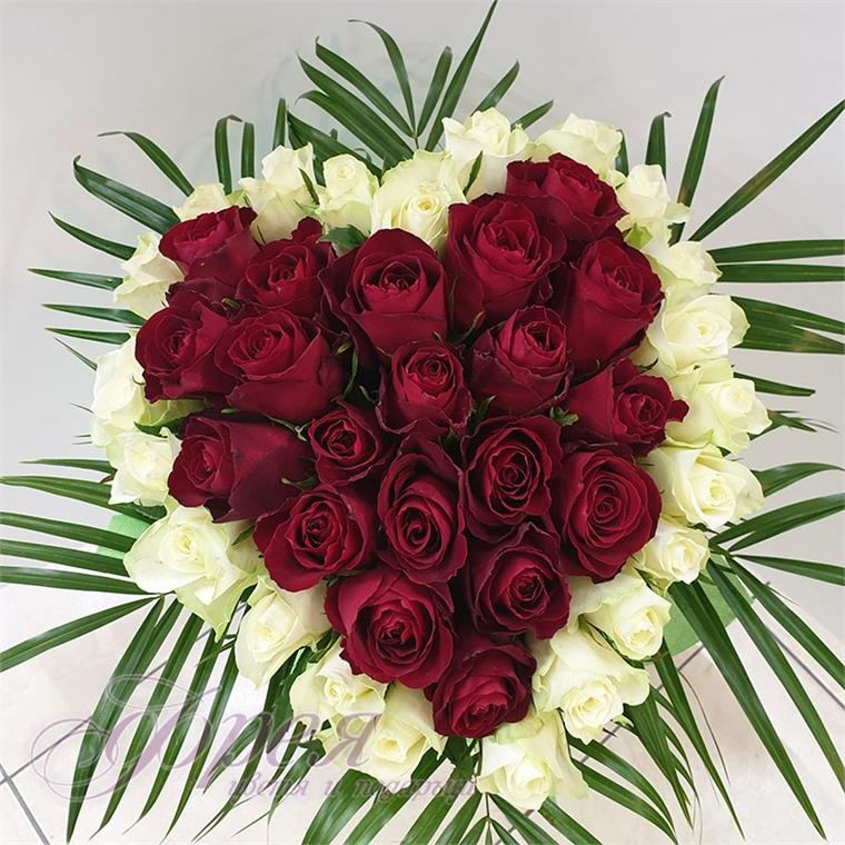 Букет от рози - Сърце