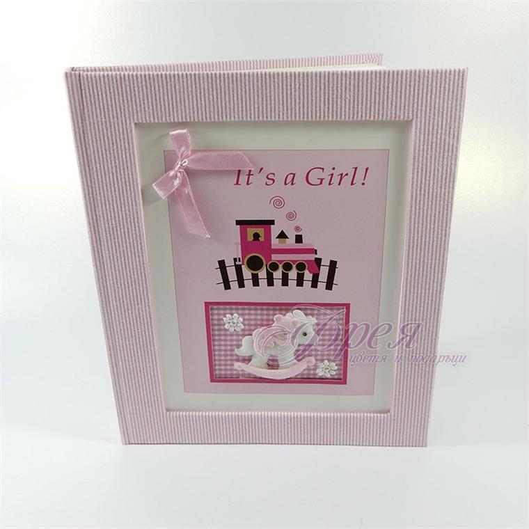 Бебешки албум за снимки в розово