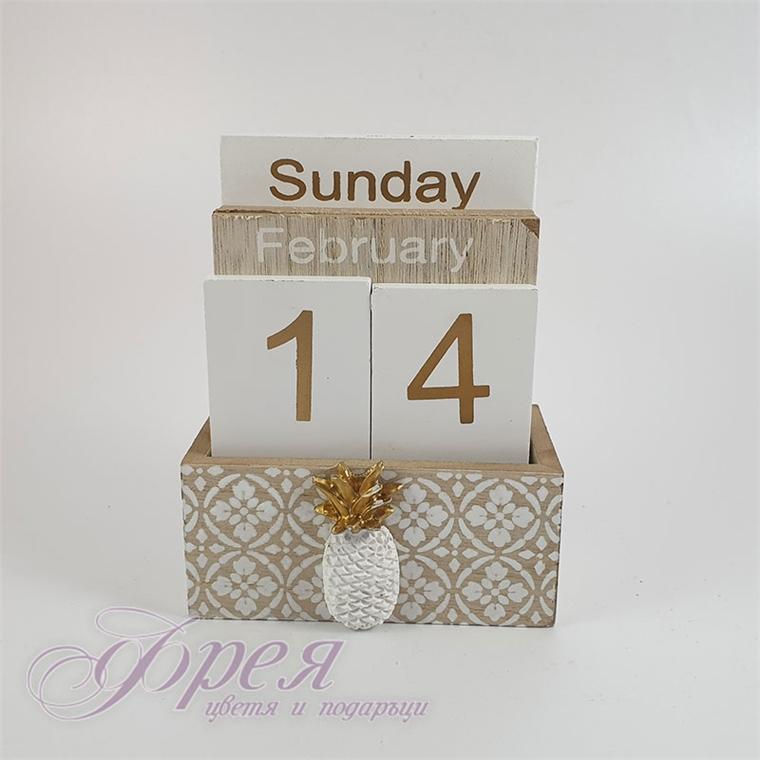 """Вечен календар - """"Златист ананас"""""""