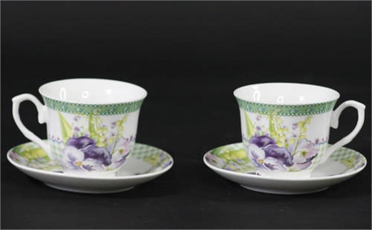 Комплект две чаши - Пролетна полянка с цветя 9см