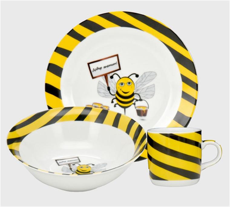 Детски сервиз за хранене - Пчеличка