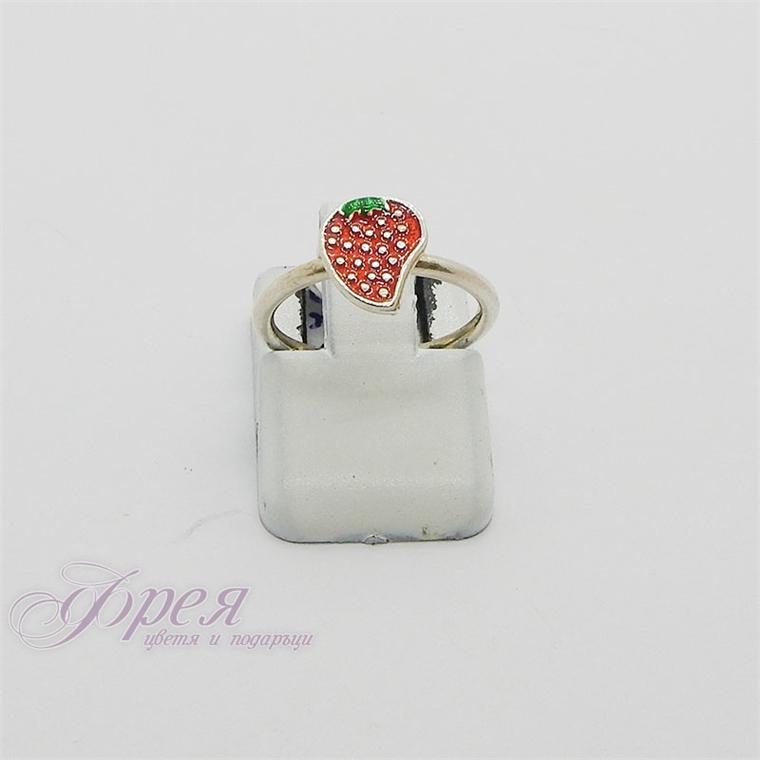 Сребърен пръстен - ягода