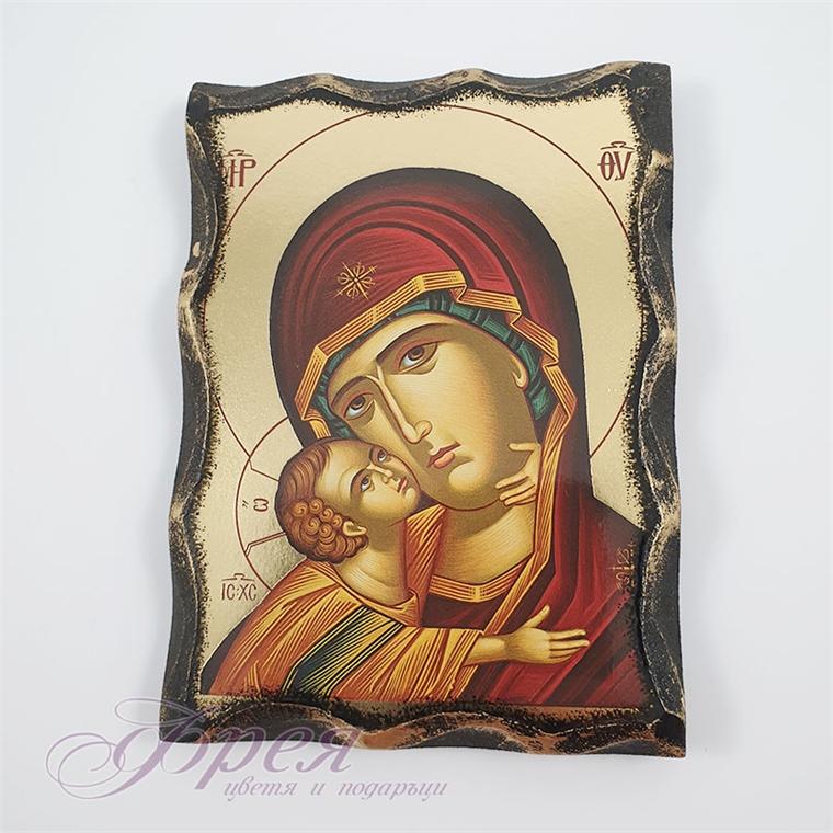 Икона на Света Богородица 15 см