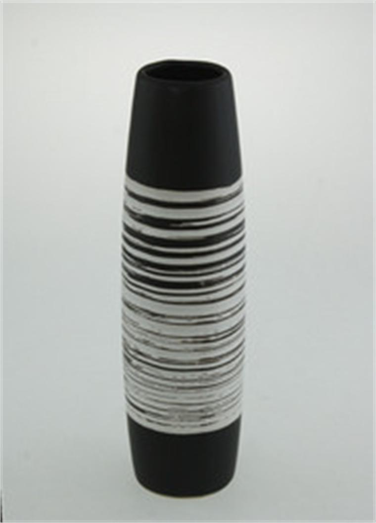 Ваза в черно и бяло 30.3 см - Форми