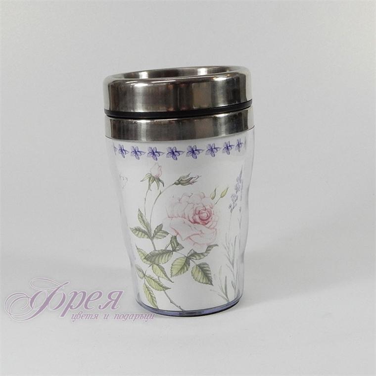 Термо чаша - Цветя малка