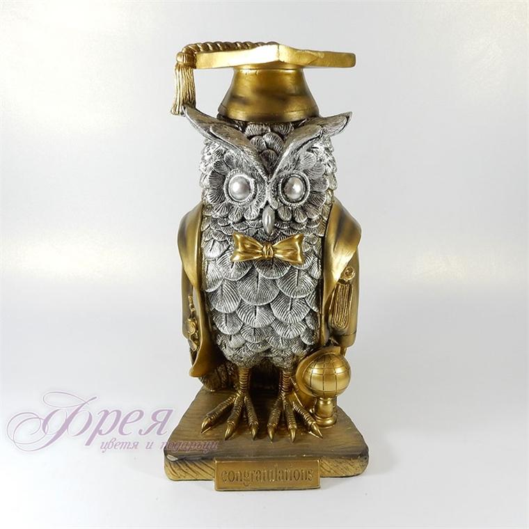 Декоративна статуетка - Сова дипломант 34см