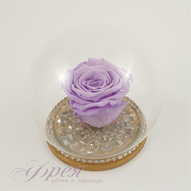 Вечна роза - светло лилав цвят в сфера