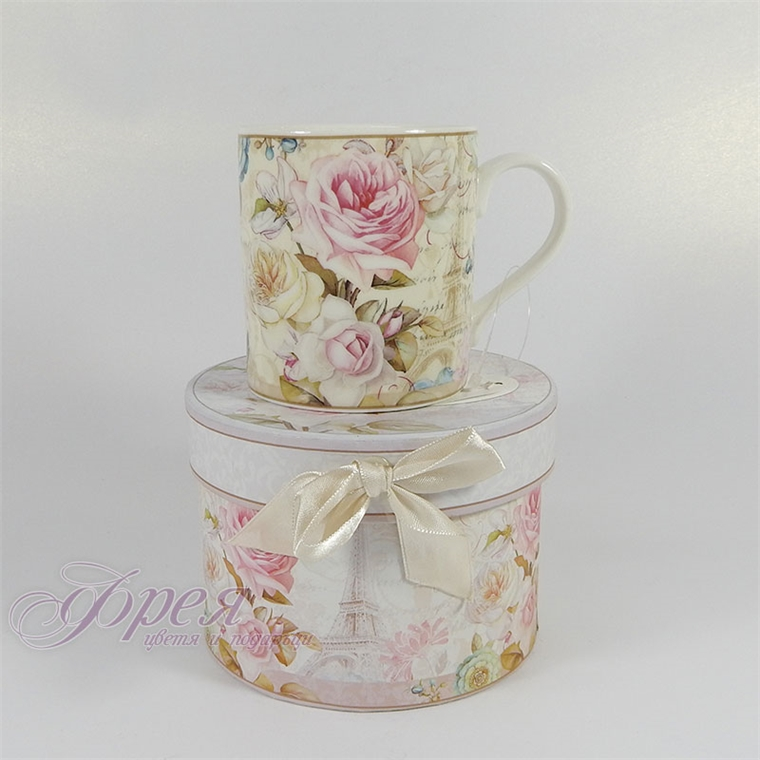 Порцеланова чаша за кафе -  Роза Айфел