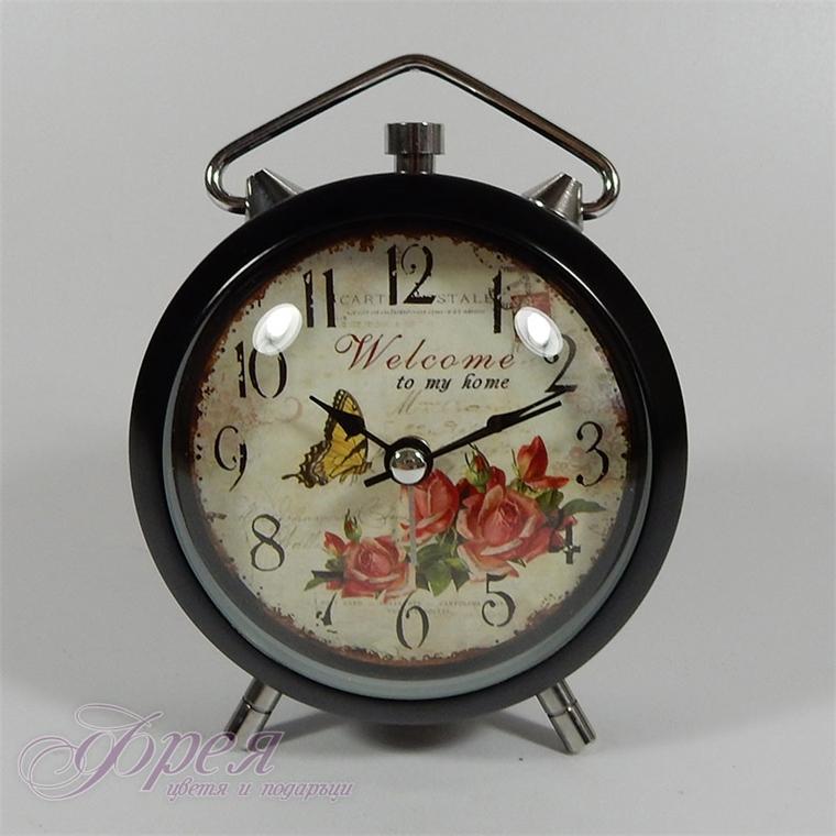 Настолен часовник с будилник и лампичка