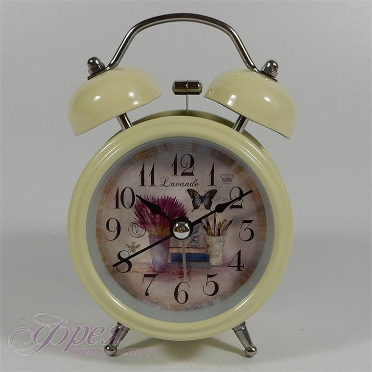 Настолен часовник с аларма, модел - лавандули