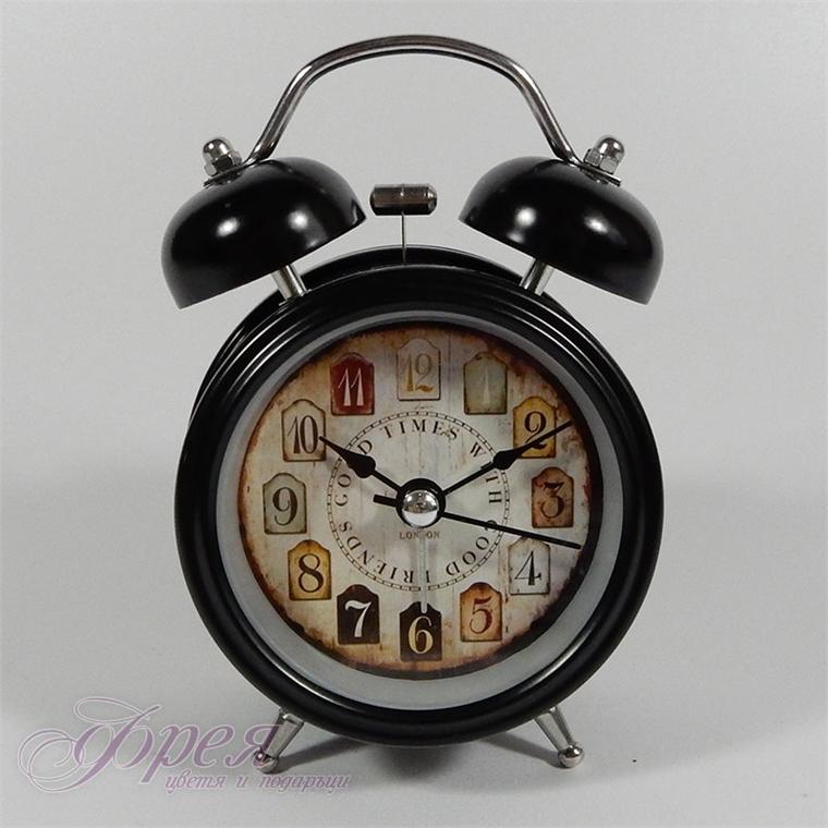 Настолен часовник с будилник и лампичка, модел 'Good times'