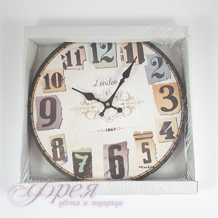 """Стенен часовник с надпис """"LONDON"""""""