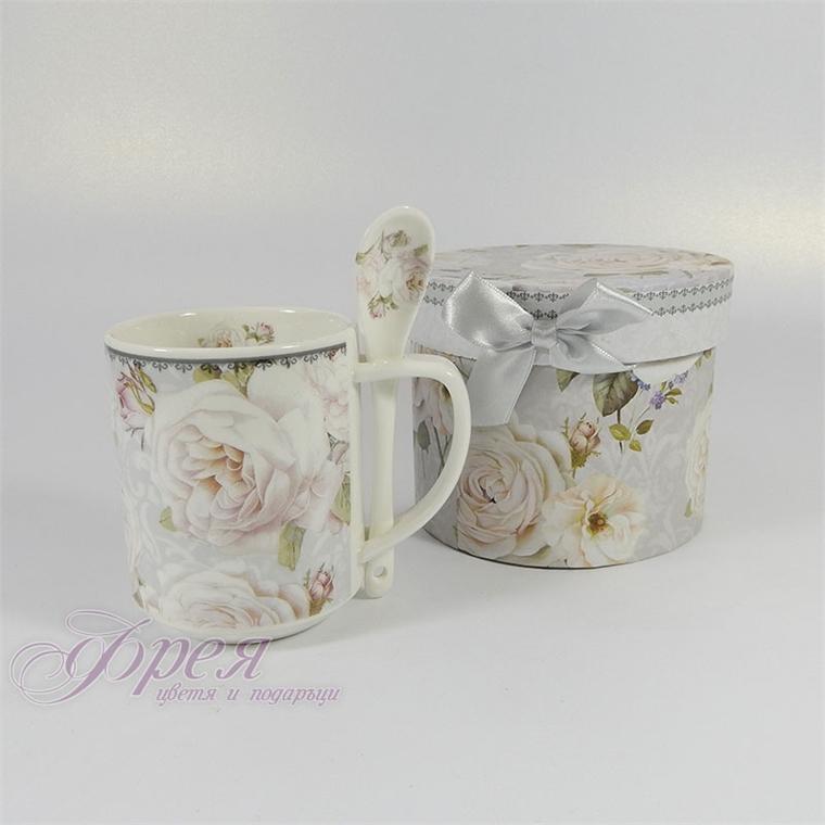 Порцеланова чаша - Бяла роза