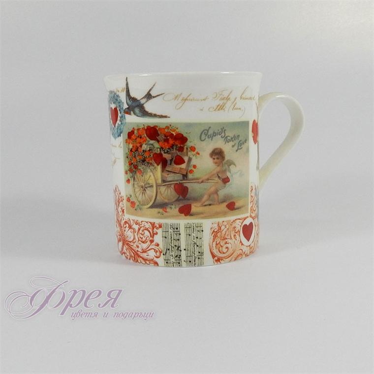 Порцеланова чаша -  Ангелчета малка