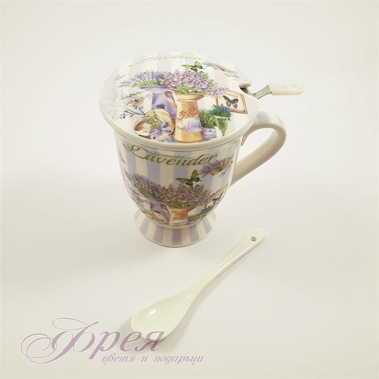Комплект за чай - Лавандула