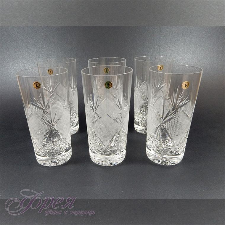"Кристални чаши за вода серия ""Виолета"""