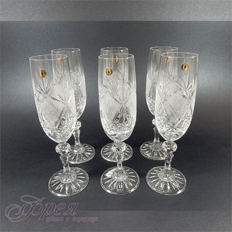 "Кристални чаши за шампанско ""Виолета"""